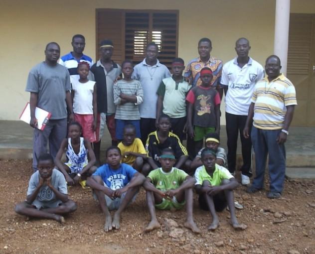 Photo de la 1ère équipe du Collège Chaminade, octobre 2007